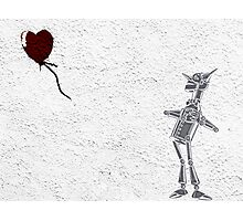 Tinman Heart Balloon Graffiti Photographic Print