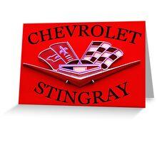 Chevrolet Stingray vintage red Greeting Card