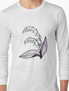 Lily of the Valley Drawing Long Sleeve T-Shirt