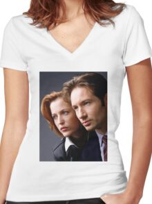 The X Files - #1 Women's Fitted V-Neck T-Shirt