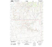 USGS TOPO Map Arizona AZ Red Butte SW 20120508 TM Photographic Print