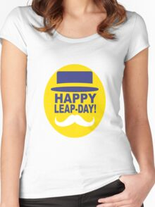 HAPPY LEAP-DAY! Women's Fitted Scoop T-Shirt