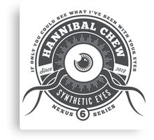 Hannibal Chew Synthetic Eyes Canvas Print