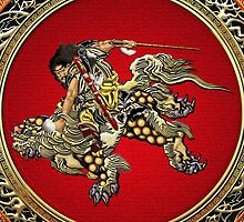 Golden Chinese Dragon Fucanglong  by Captain7
