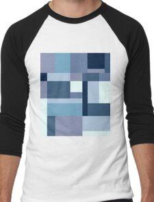 Abstract #387 Blue Harmony Men's Baseball ¾ T-Shirt
