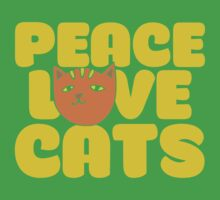 Peace love cats One Piece - Short Sleeve