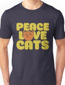 Peace love cats Unisex T-Shirt