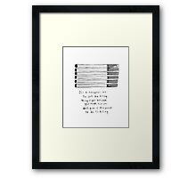 The Fault in Our Stars Cigarette Metaphor  Framed Print