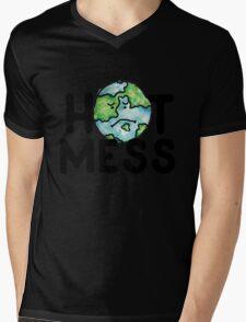 HOT MESS earth is sad Mens V-Neck T-Shirt
