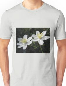 White Wood Anemones Unisex T-Shirt