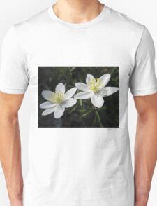 White Wood Anemones Unisex T-Shirt