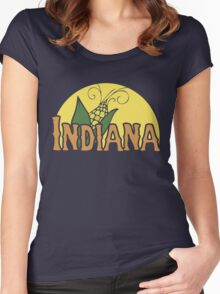 Indiana Women's Fitted Scoop T-Shirt