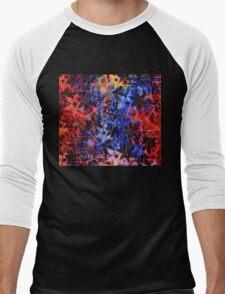 Colorful Vintage Flower Pattern Men's Baseball ¾ T-Shirt