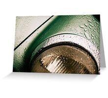 Wet Porsche Greeting Card