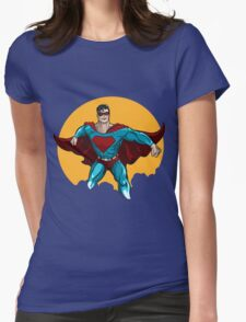 Standing Superhero Illustration Womens Fitted T-Shirt