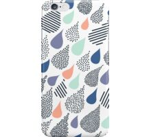 Playful Rain in White iPhone Case/Skin