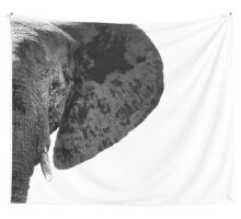 SAFARI PROFILE - ELEPHANT WHITE EDITION Wall Tapestry