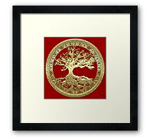 Celtic Tree of Life, Yggdrasil  [Gold] Framed Print