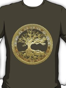 Celtic Tree of Life, Yggdrasil  [Gold] T-Shirt