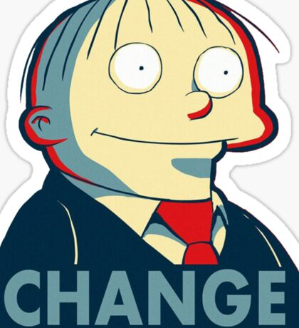 Ralph Wiggum for President 2016 Sticker