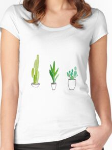 PLANTS ARE FRIENDS 2 (TUMBLR) Women's Fitted Scoop T-Shirt