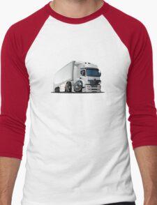 cartoon delivery / cargo semi-truck Men's Baseball ¾ T-Shirt
