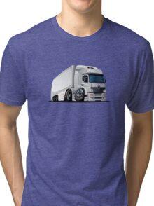 cartoon delivery / cargo semi-truck Tri-blend T-Shirt