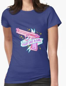 FIGHT LIKE A GIRL TUMBLR Womens Fitted T-Shirt