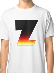 """""""Z"""" Letter Comic Book Style Classic T-Shirt"""