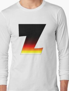 """""""Z"""" Letter Comic Book Style Long Sleeve T-Shirt"""