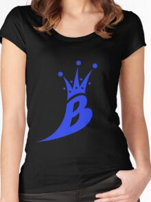Lil' Kim The Queen Bee Collection Logo - Blue  Edition Women's Fitted Scoop T-Shirt
