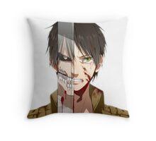 Past Eren's pain v2 Throw Pillow
