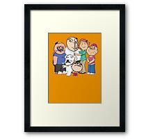 Family Guy Meme/Rage Faces Framed Print