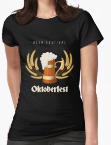 Beer Festival Emblem Womens Fitted T-Shirt
