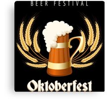 Beer Festival Emblem Canvas Print