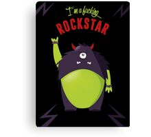 Monster Rockstar Canvas Print
