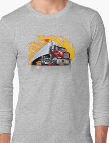 Cartoon Semi Truck Long Sleeve T-Shirt