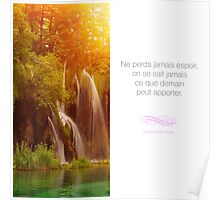 Ne perds jamais espoir - Citation sur la motivation Poster