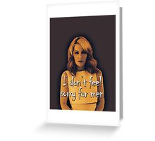 Gillian Anderson feels no sorry for men Greeting Card