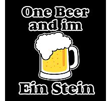 One Beer Ein Stein Photographic Print
