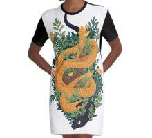 Rue Snake Graphic T-Shirt Dress