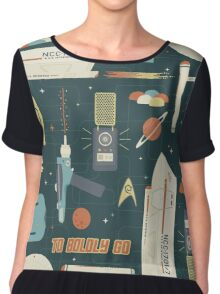 To Boldly Go... Chiffon Top
