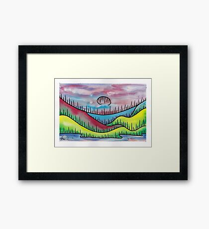 Soft underbelly of the sky above me. Framed Print