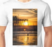 Pismo Beach Sunset with seagull Unisex T-Shirt