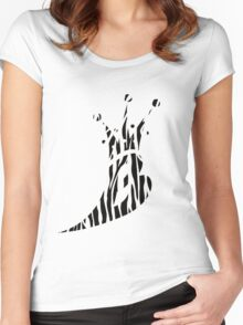 Lil' Kim The Queen Bee Collection Logo - Zebra Print  Edition Women's Fitted Scoop T-Shirt