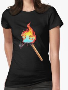 Mr. Flame Womens Fitted T-Shirt