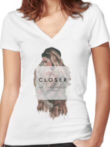The Chainsmokers - Closer Women's Fitted V-Neck T-Shirt