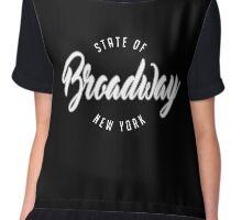 The Broadway ST, New York Chiffon Top