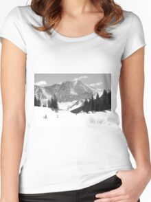A Mountain is a Buddha Women's Fitted Scoop T-Shirt
