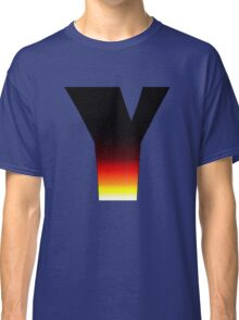"""""""Y"""" Letter Comic Book Style Classic T-Shirt"""